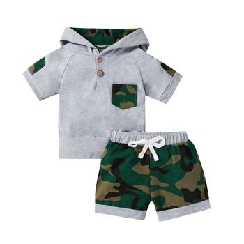 Baby Boys 2Pcs Camouflage Shorts and Shirt Set