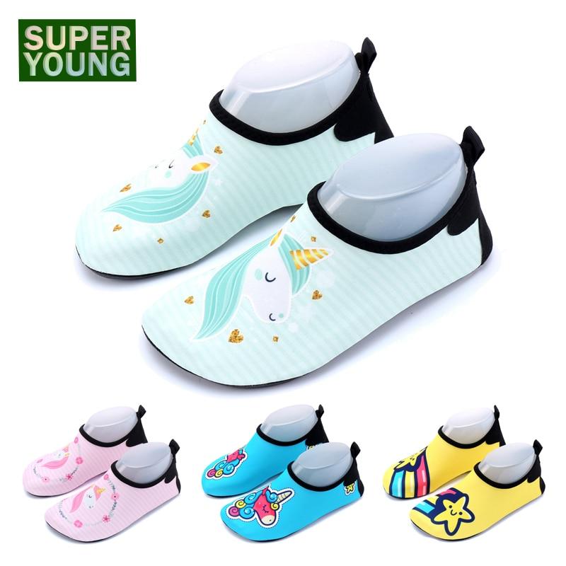 Unicorn Barefoot Children Sneakers Swimming Water Sports Aqua Shoes Kids Girls Beach Surfing Sandals Boys Fishing Diving Slipper