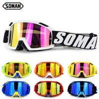 Gafas de Moto SOMAN todoterreno ATV Motocross, Gafas de Moto de Cross, Gafas de Moto de descenso, Gafas de Motocross Country