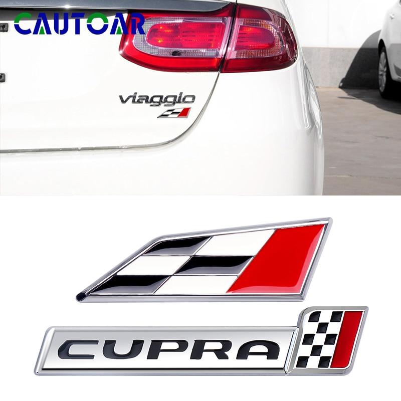 Car Styling 3D Metal Racing Flag Emblem Badge Auto Sign Sticker For Seat Cupra 2014 Leon 5F Ibiza 6J Altea Exeo Accessories