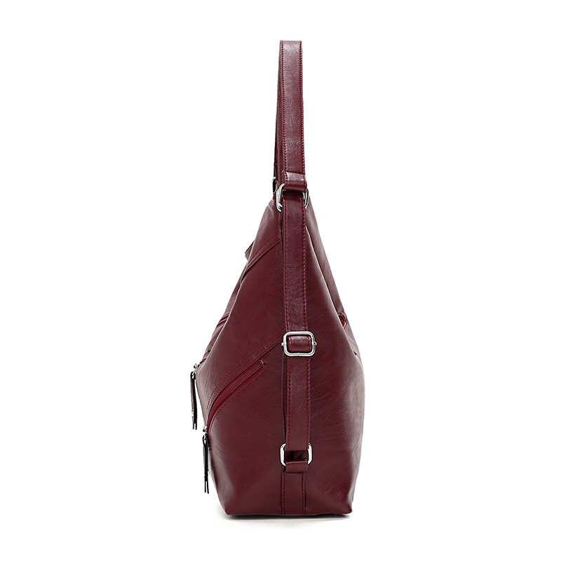 Ünlü Marka 2019 Yeni Çok Fonksiyonlu Kadın Çanta Fermuar Kadın Çanta omuzdan askili çanta Bayan Büyük Çanta Yumuşak Deri siyah tote Çanta