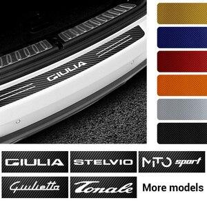 Стайлинг автомобиля багажник автомобиля защитная пластина задний бампер Защитная Наклейка для Alfa Romeo 159 147 156 166 Giulietta Giulia Mito Spider Tonale