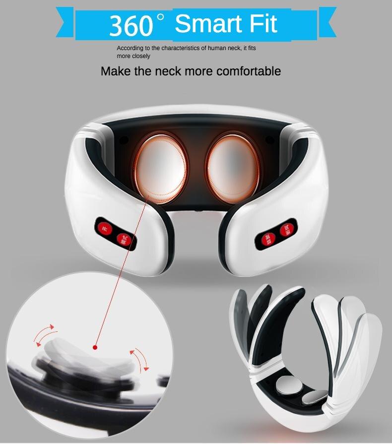 Fabricante Venta Directa nuevo estilo Smart Neck masaje instrumento Multi-funcional pulso Meridian cuello fisioterapia OEM