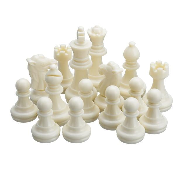 Set de pions d'échec en plastique 32 pièces, sans échiquier 3