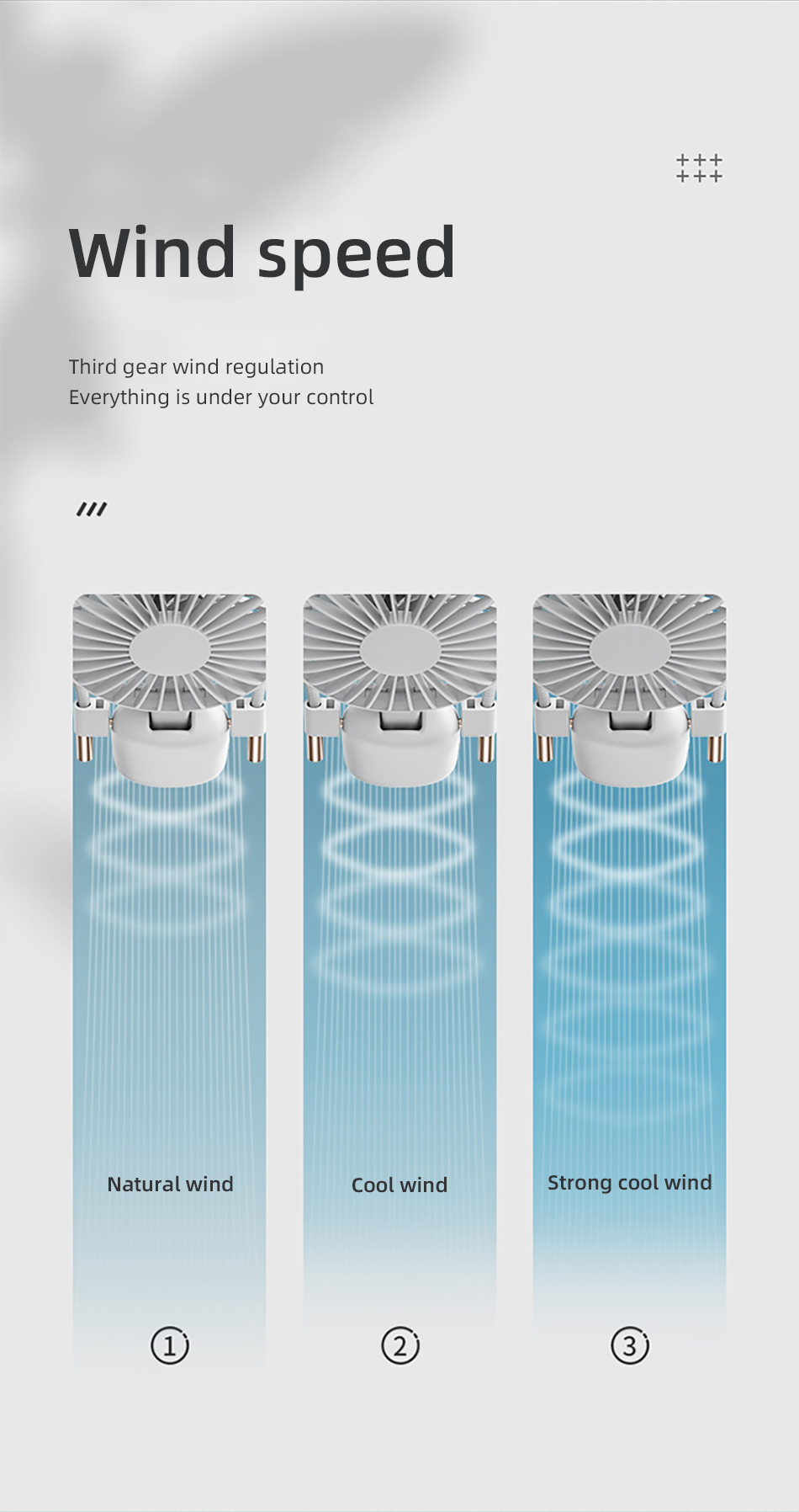 Benks F16 Mini USB Fans Mobile Handheld Fan Hanging Neck Lazy Outdoor Fan Air Cooler Rechargeable Foldable Desktop Office Fans (14)