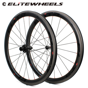 Image 1 - Elite Carbon Wheels A1 AERO Brake Surface 700c Wheelset Tubular Clincher Tubeless TPI Bearing Straight Pull 4 Pawls Hub SLR 3.0