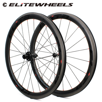 цена на Elite Carbon Wheels A1 AERO Brake Surface 700c Wheelset Tubular Clincher Tubeless TPI Bearing Straight Pull 4 Pawls Hub SLR 3.0