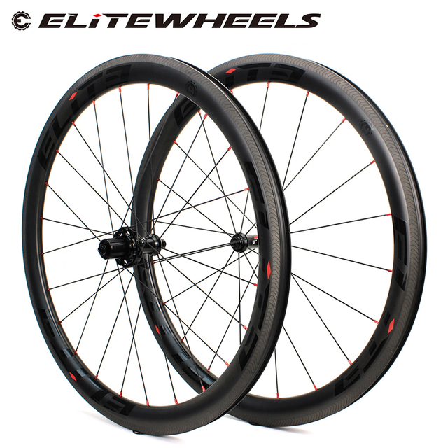 Elite Carbon Wheels A1 AERO Brake Surface 700c Wheelset Tubular Clincher Tubeless TPI Bearing Straight Pull 4 Pawls Hub SLR 3.0