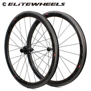 Image 1 - Elite SLR углеродное волокно автомобильный велосипед колесо прямого оттягивания низкосопротивления керамическая ступица 25 / 27 мм ширина трубы без внутренней оболочки 700C колесная пара