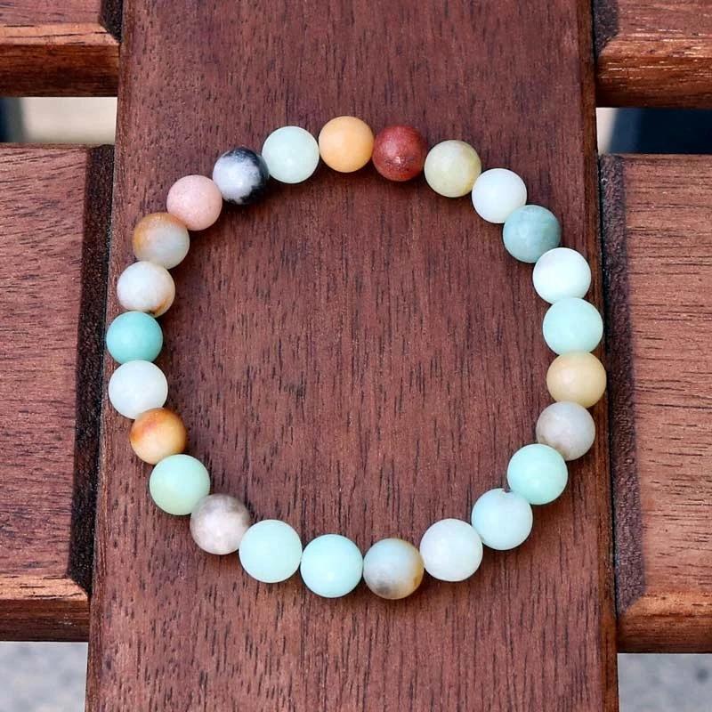 Natural pedra grânulo amazonita pulseira mala contas pulsera moda reiki jóias para homem feminino acessórios transporte da gota