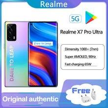 NewOriginal realme x7 pro Ultra Smartphone 128g 6.55 ''90Hz Super AMOLED 65W Schnelle Smart VOOC MTK1000 + 64MP Quad Kamera Handy