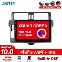 AOTSR Android 10.0 16GB Car Tracker For Toyota Prado 2014 2017 Car GPS Accessories 2 din Multimedia Player DVD Radio Head Unit