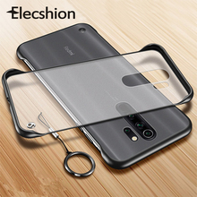 Matte Phone Case For Redmi Note 8 Pro Back Cover Anti Finger Print Strap Ring Mobile Yellow