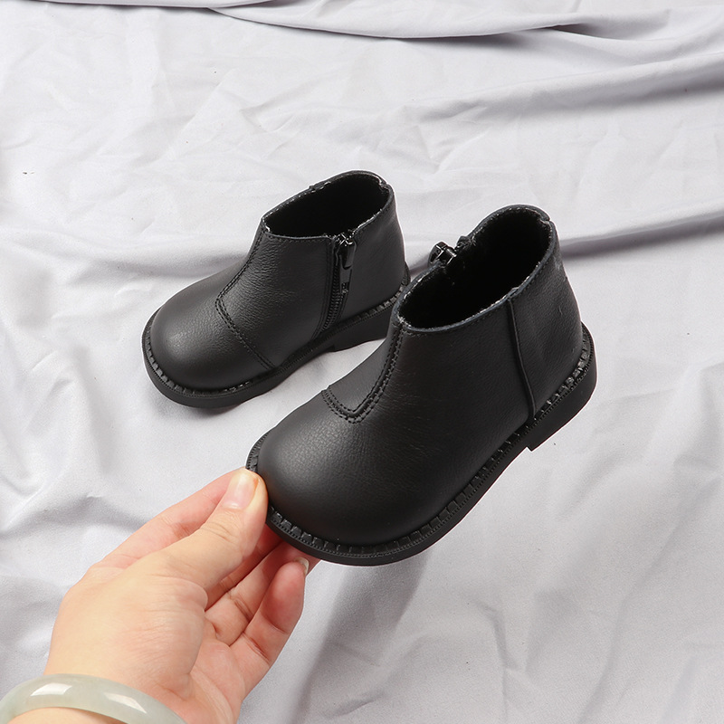 2019 New Autumn Genuine Leather Baby Girls Martin Boots Infant Toddler Boys First Walkers Bebe Casual Shoes Single Booties