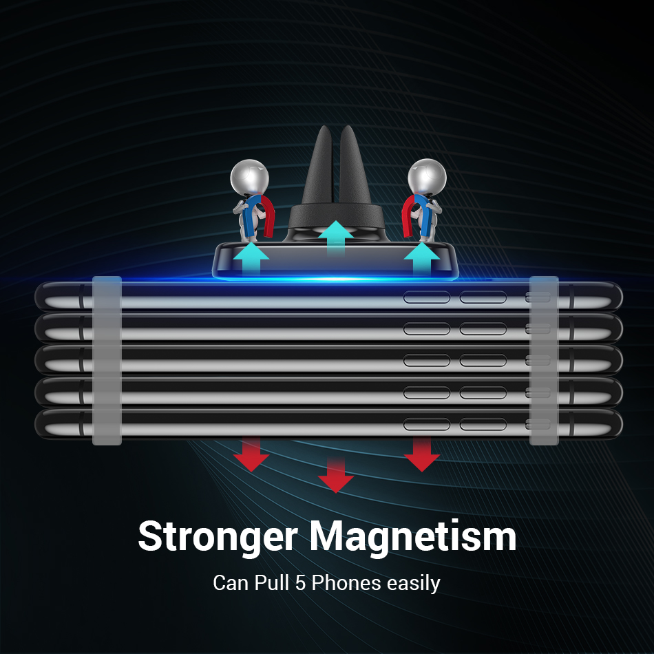 Image 2 - FIVI car phone holder magnetic for mobile phone Air Vent Magnet phone stand for  Iphone 11 11 Pro Max Xr  car mount holder-in Phone Holders & Stands from Cellphones & Telecommunications