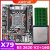 JGINYUE X79 motherboard LGA 2011 set kit with Xeon E5 2620 V2 processor and DDR3 16GB(4*4GB) REG ECC memory X79M PLUS 1