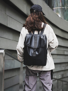 Image 3 - حقيبة ظهر نسائية رائعة من قماش أكسفورد للجنسين حقيبة ظهر ذات جودة عالية حقيبة بسيطة مقاومة للمياه حقيبة يومية متينة باللون الأسود والذهبي