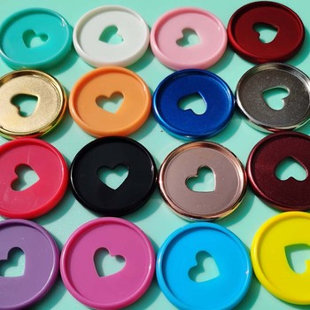 100PCS Mushroom Hole Notepad Binding Buckle Plastic Binding Disk Clip Binding Ring Notebook Office Learning Supplies
