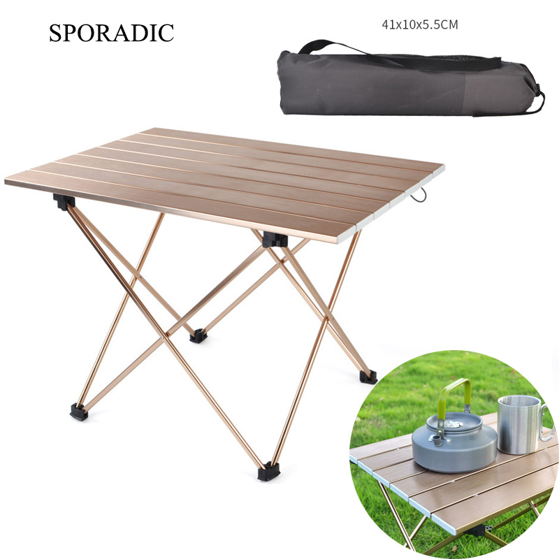 Sporadic Folding Table Camping Picnic Table Outdoor Camping Table Travel Furniture Ultra Light Fishing Hiking Camping Accessorie