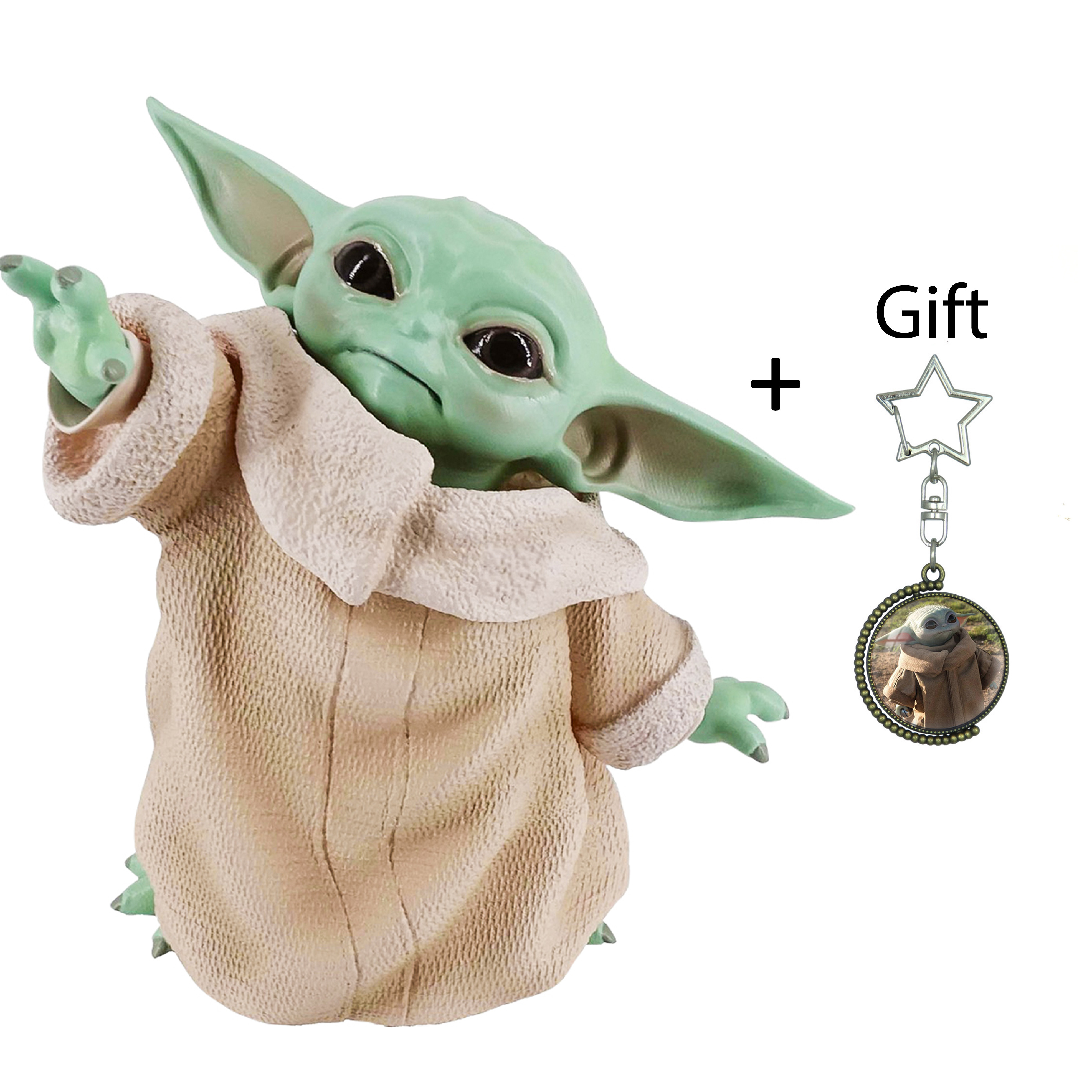Baby Yoda Collection,6 Inch The Mandalorian The Black Series Collectible with Baby Yoda Keychain