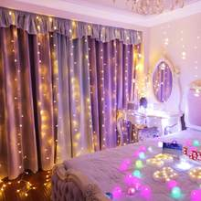 3x3m LED Curtain LED String Lights New Year Christmas Garlands Fairy Party Garden Wedding Decoration fairy(China)