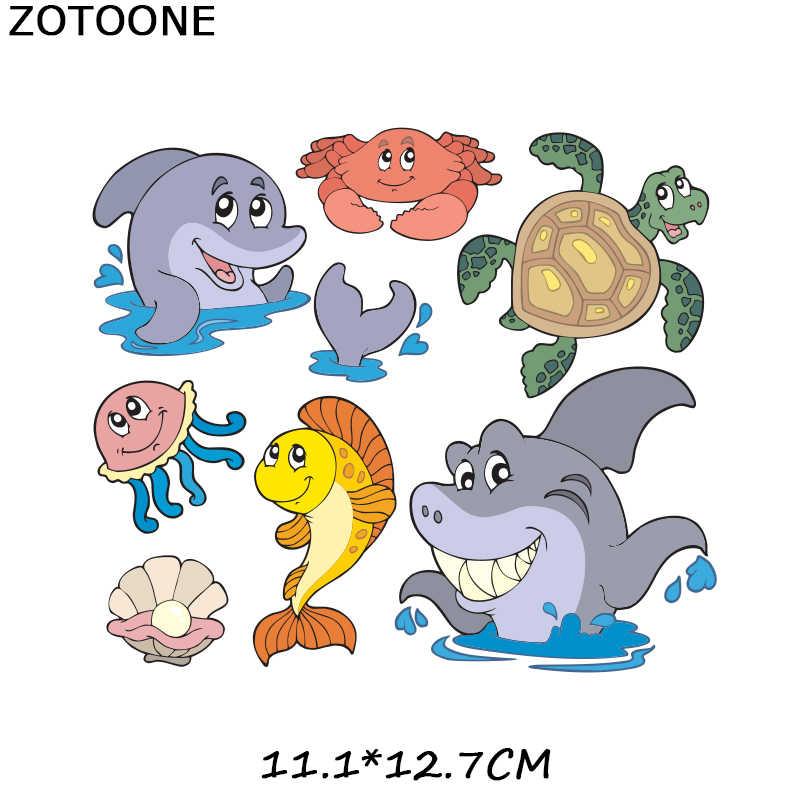 ZOTOONE Eisen auf Patches für Kinder Mode Kleidung DIY T-shirt Applique Wärme Transfer Vinyl Cartoon Nette Tiere Patch Aufkleber G