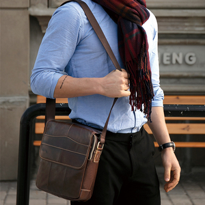 Image 5 - X。d。boloファッションメンズバッグ革メンズショルダーバッグ個人ポケットバッグ本革男性クロスボディショルダーバッグビジネスバッグ