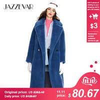 JAZZEVAR 2019 Inverno nuovo arrivo cappotto di pelliccia delle donne di nuovo modo di stile teddy bear cappotto allentato abbigliamento lungo cappotto caldo di inverno k9063