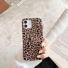 Funda de teléfono con estampado de leopardo para iPhone, carcasa trasera suave de TPU a prueba de golpes para teléfono móvil iPhone 11 12 Por Max XR X XS 7 8 Plus