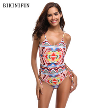 New Sexy Colorful Checkered Swimsuit Women One Piece Suit Side String Swimwear S-XL Girl Backless Padded Bathing Suit Monokini new arrival sport swimwear one piece swimsuit women padded monokini sexy backless bodysuits swimming bathing suit size s m l xl