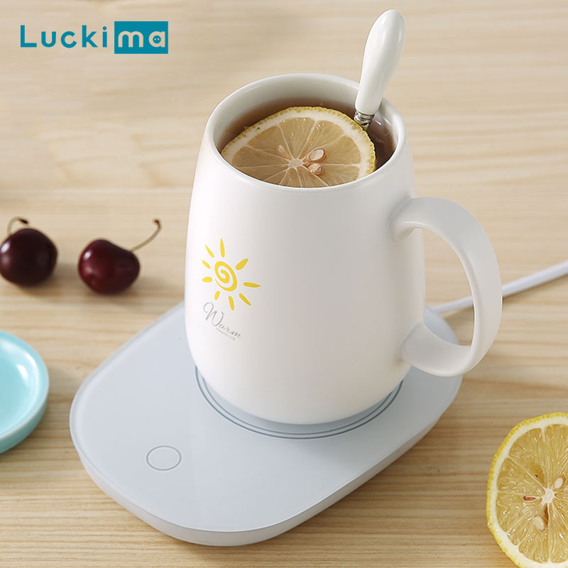 New Smart Coffee Mug Cup Warmer Pad Gravity Switch For Office Home Use Constant Temperature Plate For Water Milk Tea Best Gift