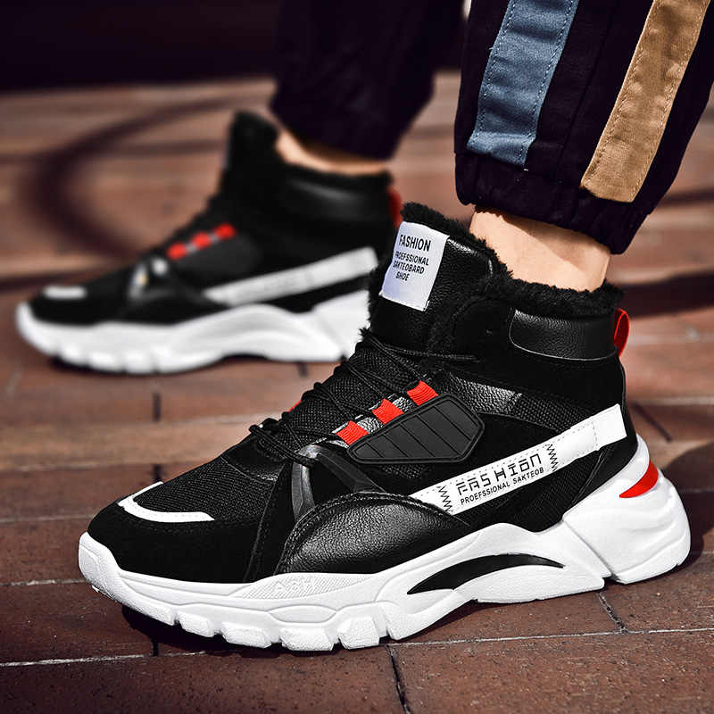 Moda erkek rahat ayakkabılar sonbahar kış çizmeler erkekler yüksek üst Sneakers Krasovki erkek lüks ayakkabı Botas Hombre Zapatos De Hombre