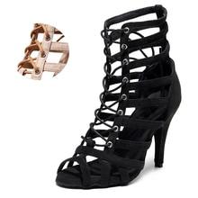 Dance-Boots Salsa Ballroom Latin Practice High-Heel Girls Black Kids Woman Flannel