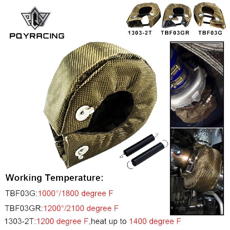 PQY-100% Full TITANIO T3 turbo coperta turbo scudo termico fit: t2 t25 t28 gt28 gt30 gt35 e la maggior parte dei t3 turbo PQY-TBF03
