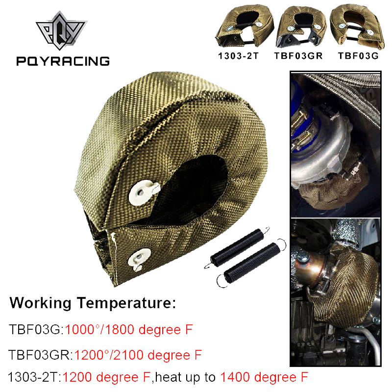 Pqy-100% Full Titanium T3 Turbo Deken Turbo Hitteschild Fit: t2 T25 T28 Gt28 Gt30 Gt35 En Meest T3 Turbo PQY-TBF03