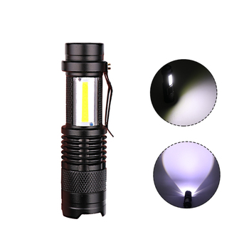 Newest Design XP-G Q5 Built in Battery USB Charging Flashlight COB LED Zoomable Waterproof Tactical Torch Lamp LED Bulbs Litwod 4