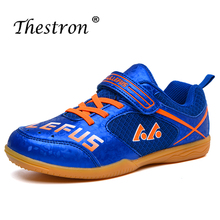Childrens Non-slip Breathable Table Tennis Shoes Outdoor Sports Training Blue Wear