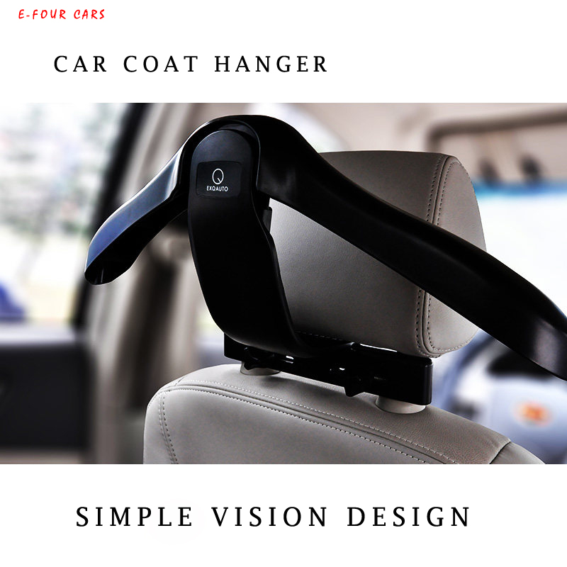 E-FOUR Hanger For Car Headrest Hook Suit Jacket Clothes Keep Slip Vehicle Holder High Class Tidying Organizer Accessories In Car