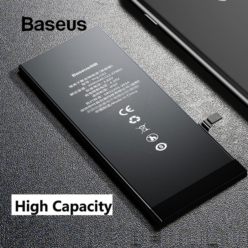 <font><b>Baseus</b></font> For <font><b>iPhone</b></font> 6 <font><b>6s</b></font> 6 plus <font><b>6S</b></font> Plus Battery 2200mAh 3500mAh High Capacity Replacement Phone Bateria with Free Repair Tools Kit image
