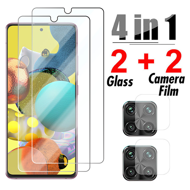 4in1 Tempered Glass for Samsung Galaxy A51 A52 A42 A32 5G Camera Screen Protector for Samsung A71 A72 A12 A21S A31 A41 A11 Glass 1