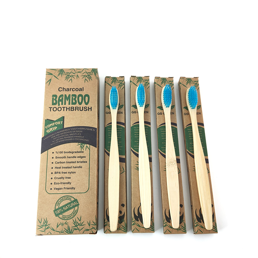 4pcs/Pack Natural Pure Bamboo Toothbrush Table Soft Hair Tooth Brushes Eco-Friendly  Curaprox Toothbrush Oral Cleaning Care Tool