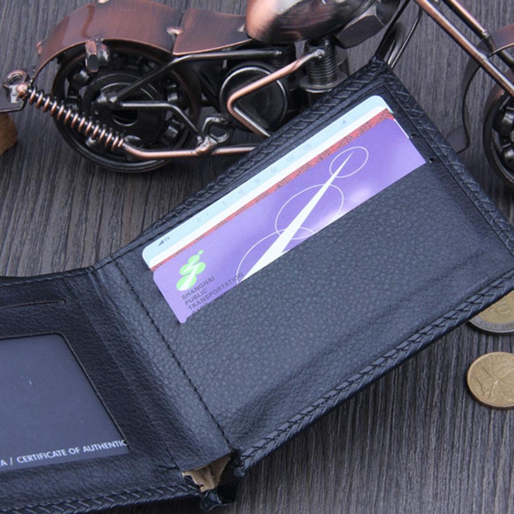 Men Bifold Business Leather Wallet ID Credit Card Holder Purse Pockets #4G24 (5)