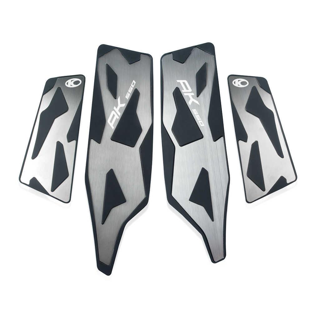 Motosiklet pedalı ön ve arka Footrest ayak adım motosiklet döşeme tahtaları ayak Pegs için KYMCO AK550 KYMCO AK 550 2017 2018