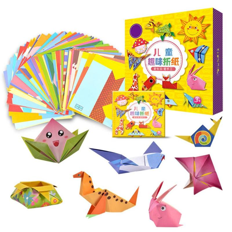 Children's Origami Paper-cut Book Kindergarten Fun Baby Puzzle DIY Manual Three-dimensional Origami Collection Funny