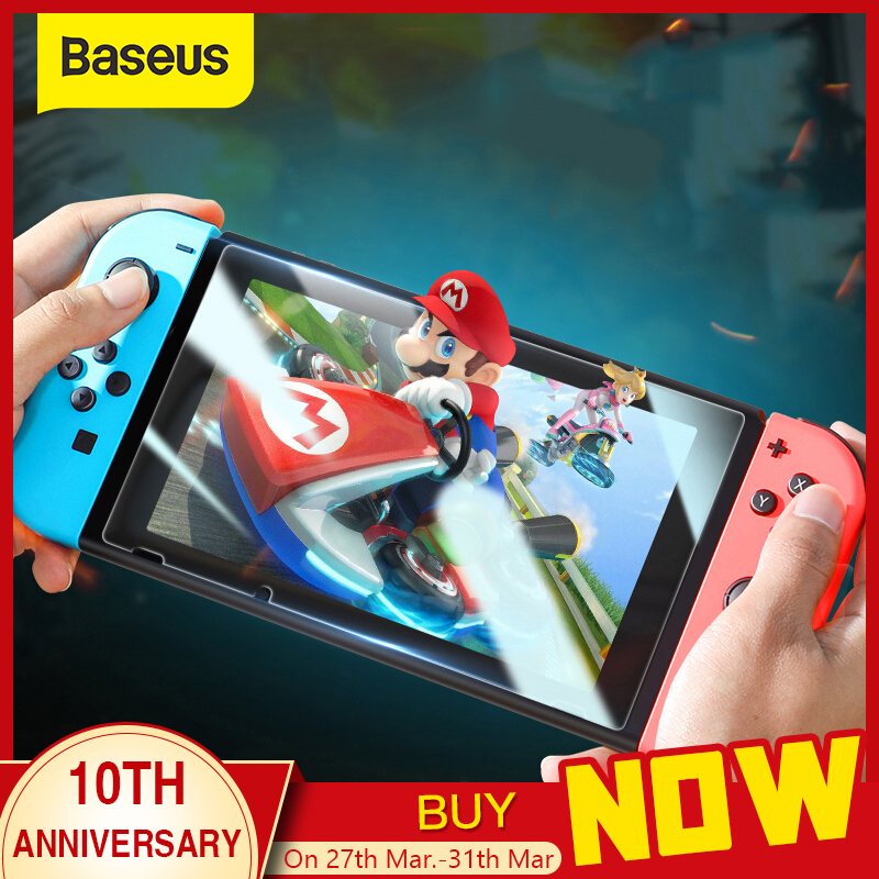 Baseus 2Pcs 0.3mm Protective Glass For Nintend Switch Tempered Glass Screen Protector For Nintendos Switch NS Screen Protection