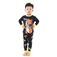 Boys Sleepwear Pajama Girls Kids Cartoon Children Summer New Cotton Full for Man