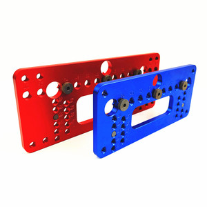 Image 3 - Woodworking Aluminum Alloy Pocket Hole Pitch Jig Set Wardrobe Door Cabinet Positioner Handle Punch Locator Drill Guide Sleeve