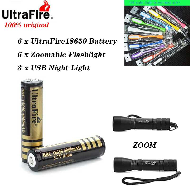 2/4/6pcs/lot 18650 Batteries High Quality 18650 4000mAh 3.7V PCB Protected Rechargeable Li Ion Batteries