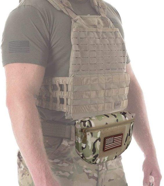 Tactical Dump Drop Pouch, Armor Carrier Drop Pouch Hunting EDC Utility Bag Combat Gear  for AVS JPC CPC AVS Tactical Vest 2