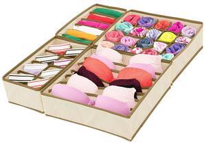 Image 3 - 4 stücke Faltbare Mehrzweck Schublade Organizer Divider Lagerung Box Fall Closet Kleidung Unterwäsche Socken Panty Organizer Dropshipping